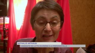 Lutte Ouvrière : Nathalie Arthaud en campagne dans les Yvelines