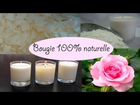 DIY  bougie naturelle parfumée à la rose