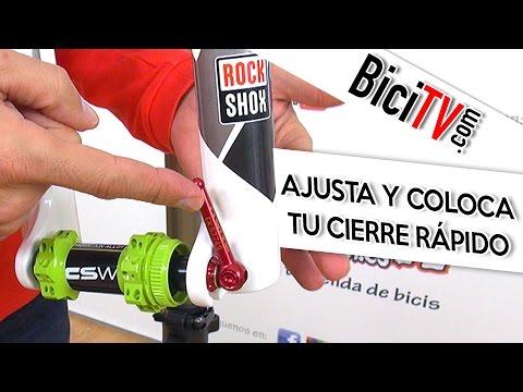 Cómo ajustar y colocar los cierres rápidos para rueda de bicicleta