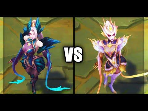 Coven Zyra vs Prestige Coven Zyra Skins Comparison (League of Legends)