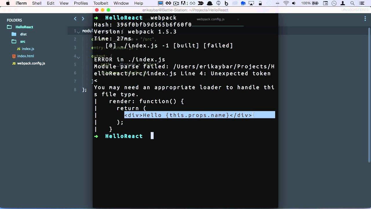 HelloReact - Setup Development Environment w/ Babel and Webpack