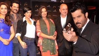 24 serial launch: Anil Kapoor pulls a gun at Mandira Bedi, Tisca Chopra