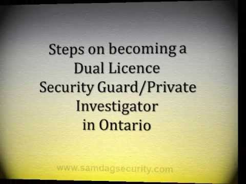 How to become a dual licence security guard and private investigator