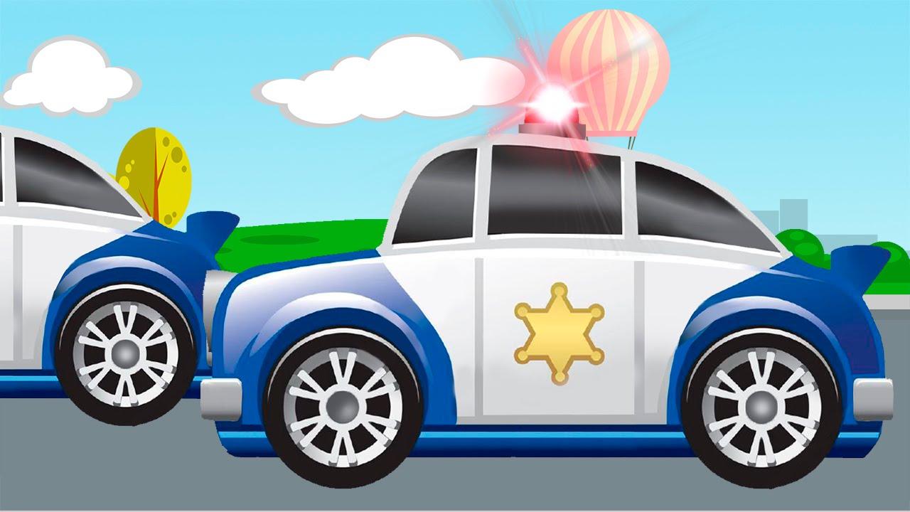 Dessin anim voiture de police les vehicules d 39 assistance vid o ducative de voitures youtube - Voiture police dessin anime ...