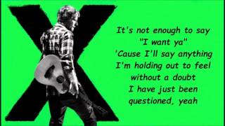 Touch And Go Ed Sheeran [Lyrics]