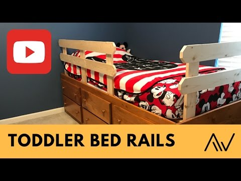 How to make Simple Toddler Bed Rails | Build