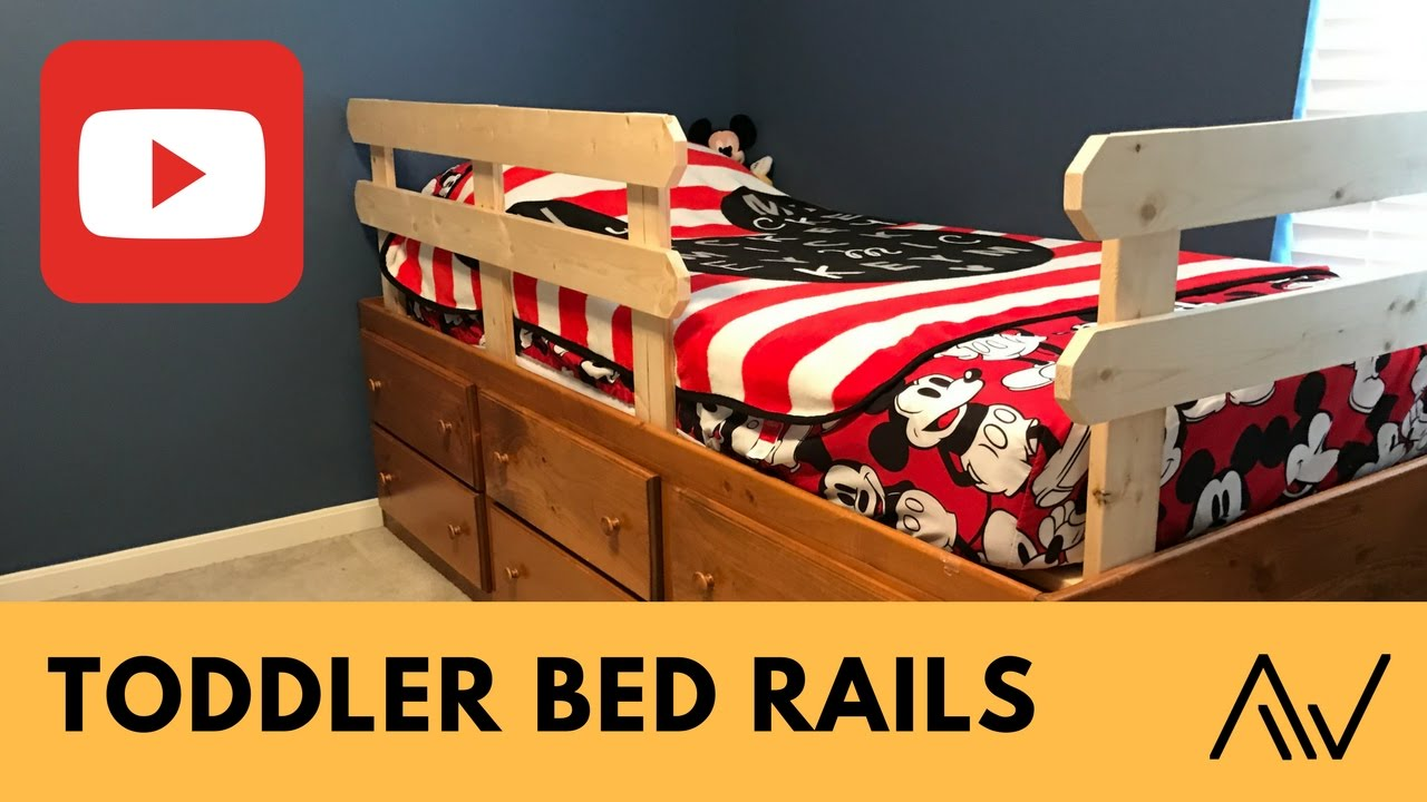 How To Make Simple Toddler Bed Rails Build