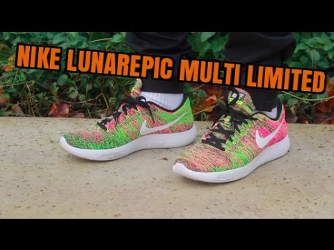Nike Lunarepic Flyknit MULTI LIMITED ON FEET! - YouTube 7eb78bb39