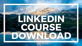 How to download from Linkedin Learning