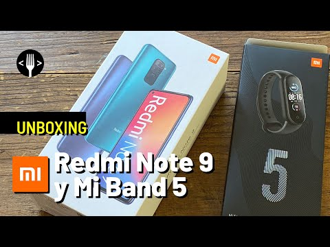 Unboxing: Redmi Note 9 y Mi Band 5
