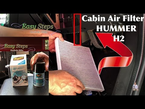 SOLVED – Eliminate Odor In Used Car | Replace Cabin Air Filter on HUMMER H2