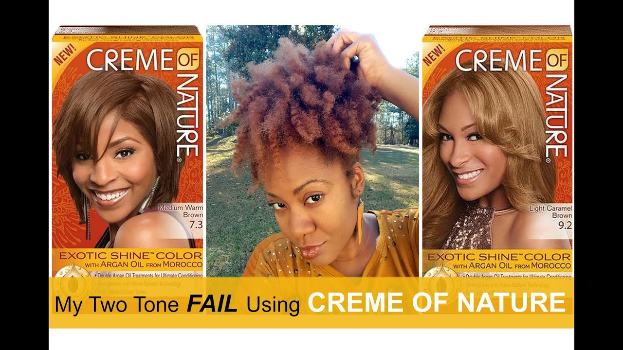 Creme Of Nature Hair Color Fail Naturally Michy Youtube