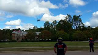 Eurocopter EC-135 Helicopter Landing - Duke Life Flight - Knightdale Safety Day 10/7/17