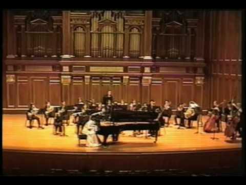 Yelena Beriyeva plays Stravinsky Concerto for piano and winds. Movement 1