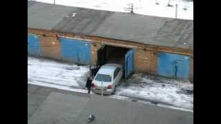 Красноярск. Парковка в гараж