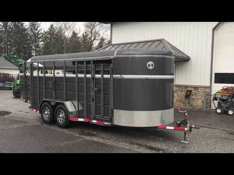 Corn Pro Bumper Pull Livestock Trailer SB18-7H Stock