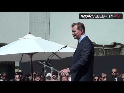 Christopher Nolan speach at handprint ceremony in Hollywood ...
