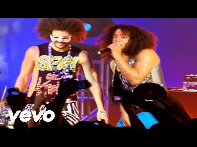 LMFAO - Sorry For Party Rocking (Walmart Soundcheck Live)