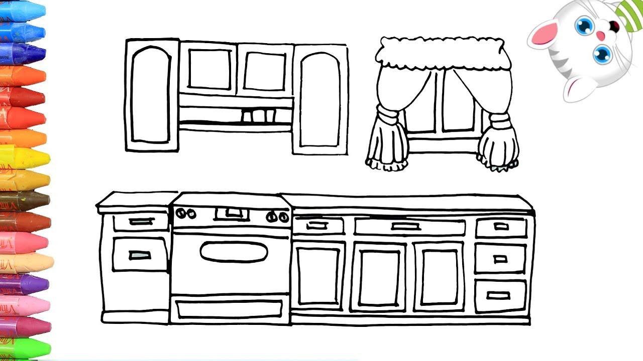Como Dibujar Y Colorear Cocina Dibujos Para Ninos Con Mimi