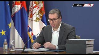 Obraćanje predsednika Srbije Aleksandra Vučića posle sednice Saveta za nacionalnu bezbednost (18+)