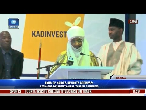 Emir Of kano's Speech At 2017 Kaduna Investment Summit Pt 1