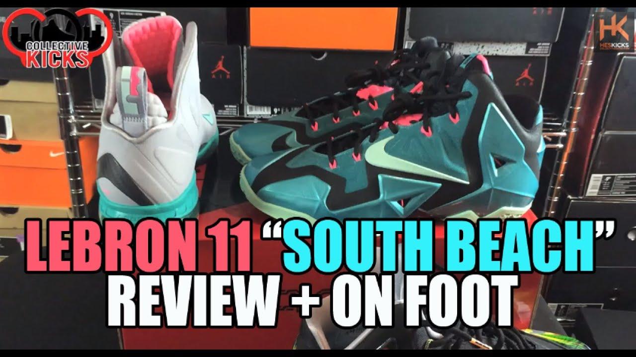save off 468aa 9e1da Nike Lebron 11 (XI) South Beach Review   On Foot (Success of Fail )
