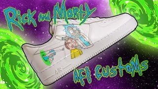 Custom Nike AF1 - Rick and Morty Customs (HAND PAINTED)