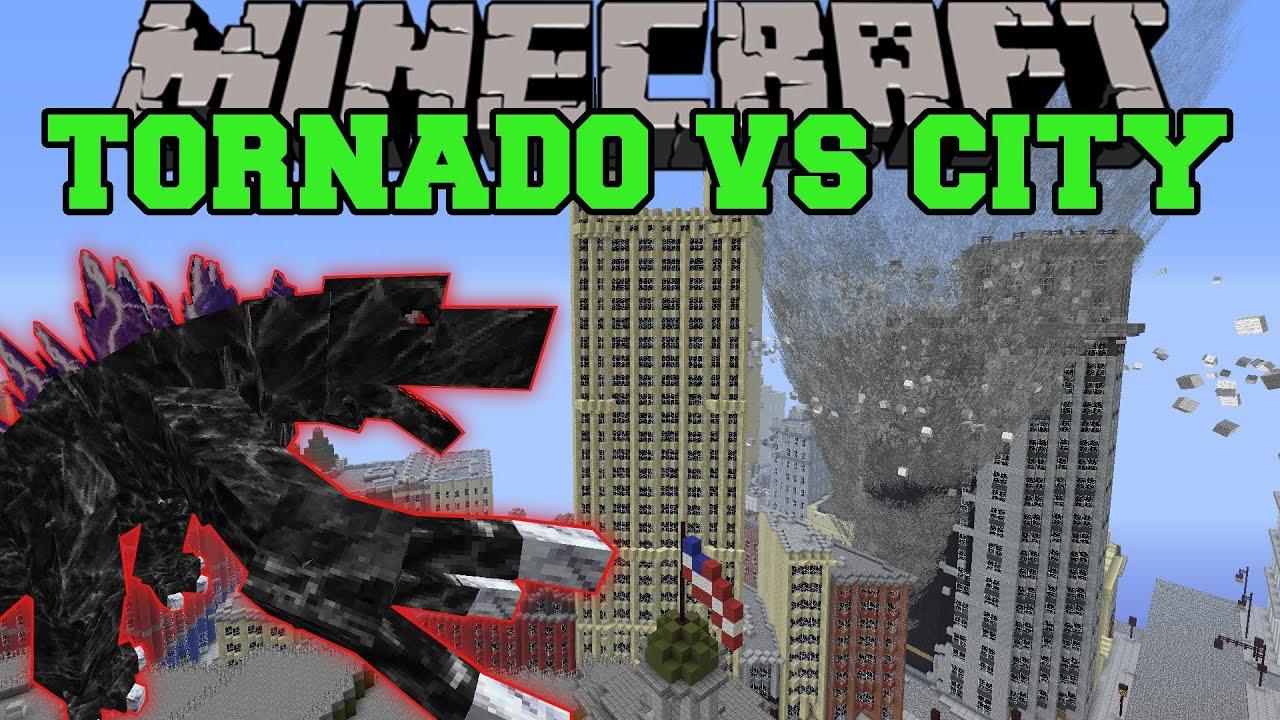 MOBZILLA Amp TORNADO MOD VS NEW YORK CITY Minecraft Mods