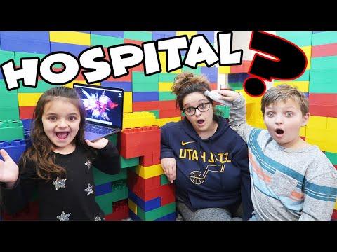 MOM IS SICK! Building a LEGO HOSPITAL!
