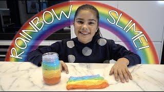 Making Rainbow Slime | Grace's Room