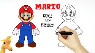 How to draw Mario | Super Mario