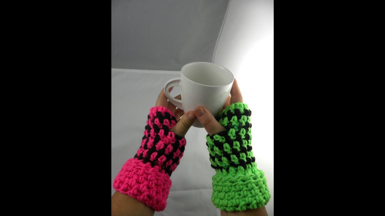 Häkeln - Armstulpen aus HATNUT Gaudy und XL 55 - YouTube
