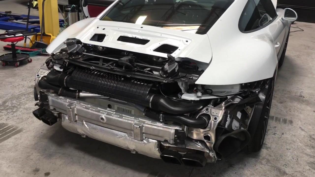 2017 Porsche Turbo S Rear Bumper Removal Youtube