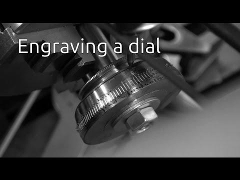 Engraving a dial