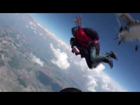 Gabriela skydiving @Mid-America Sport Parachute Club, Taylorville IL,  June 3rd 2017