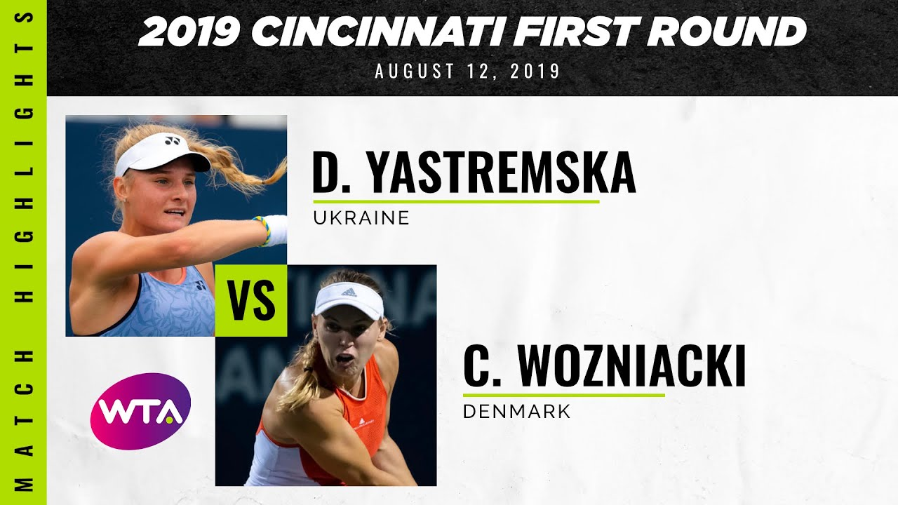 Dayana Yastremska vs. Caroline Wozniacki  | 2019 Cincinnati First Round | WTA Highlights