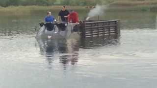 Alvis Stalwart  mk2 Amphibious testdrive in river.