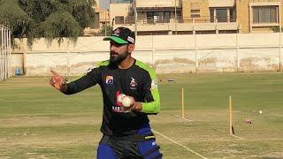 Professor Hafeez Sharing Batting Tips With Fakhar Zaman