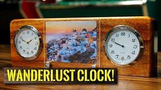 Wanderlust Time Zone Desk Clock for Travel Lovers