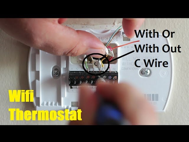 How To Install A Wifi Thermostat With Out And With C Wire - YouTube | Wi Fi Thermostat 5 Wire Wiring Diagram |  | YouTube