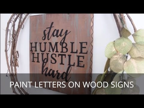 Projector Sign Making Trick for Perfect Hand Lettering
