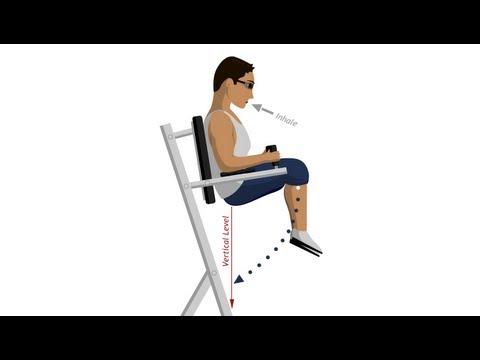 Roman Chair Leg Raise - Abdominal Exercises
