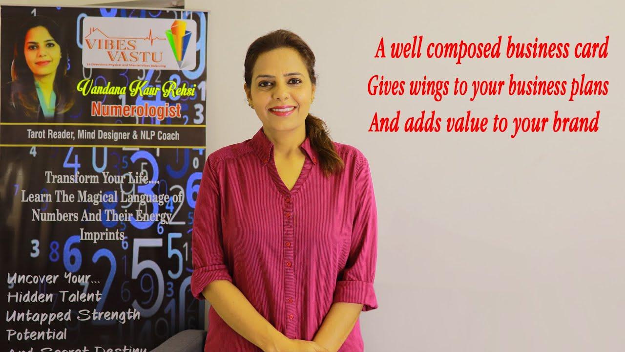 Business/Visiting Card Numerology || Boost your Business || Vandana Kaur Rehsi || Vibes Vastu