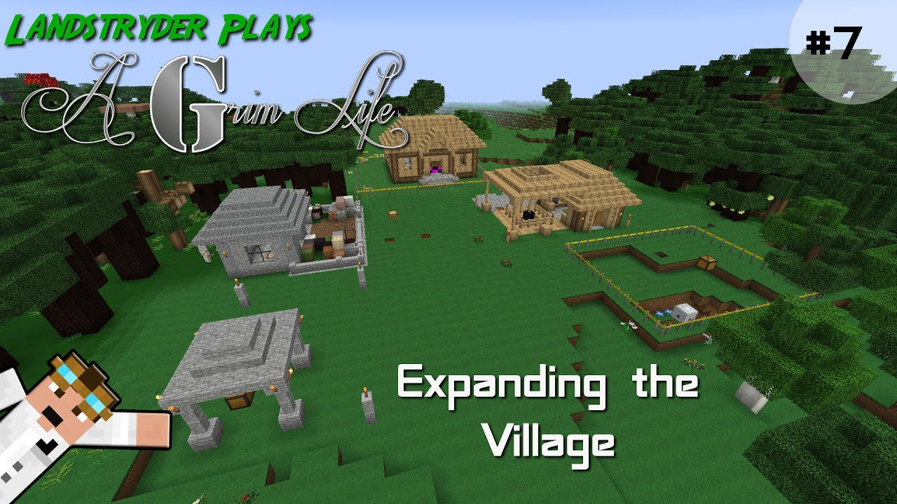 A Grim Life - Minecraft modpack - Expanding the Village