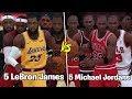 5 Different Michael Jordans vs 5 Different LeBron James! | NBA 2K19