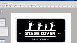 Stage Diver-logo for events company,graphic,poster,badge designer London