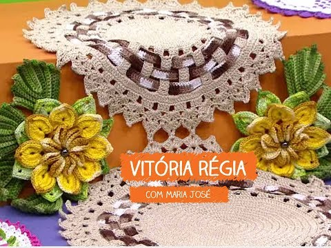 Flor Vitória Régia com Maria José | Vitrine do Artesanato na TV - TV Gazeta