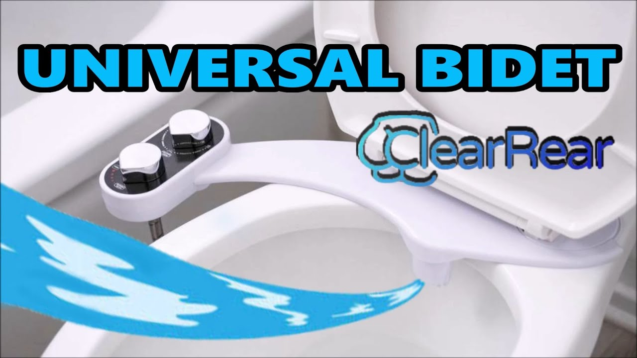 How To Install Universal Toilet Bidet Clear Rear Test Review Youtube