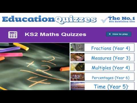 KS2 Maths Quizzes for Primary School Students - Years 3 to 6