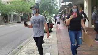 조지 플로이드 사망사건 올랜도 시위